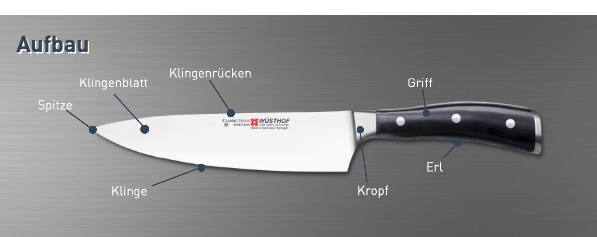 Titel: Eine kleine Messerkunde – Der Aufbau eines Messers