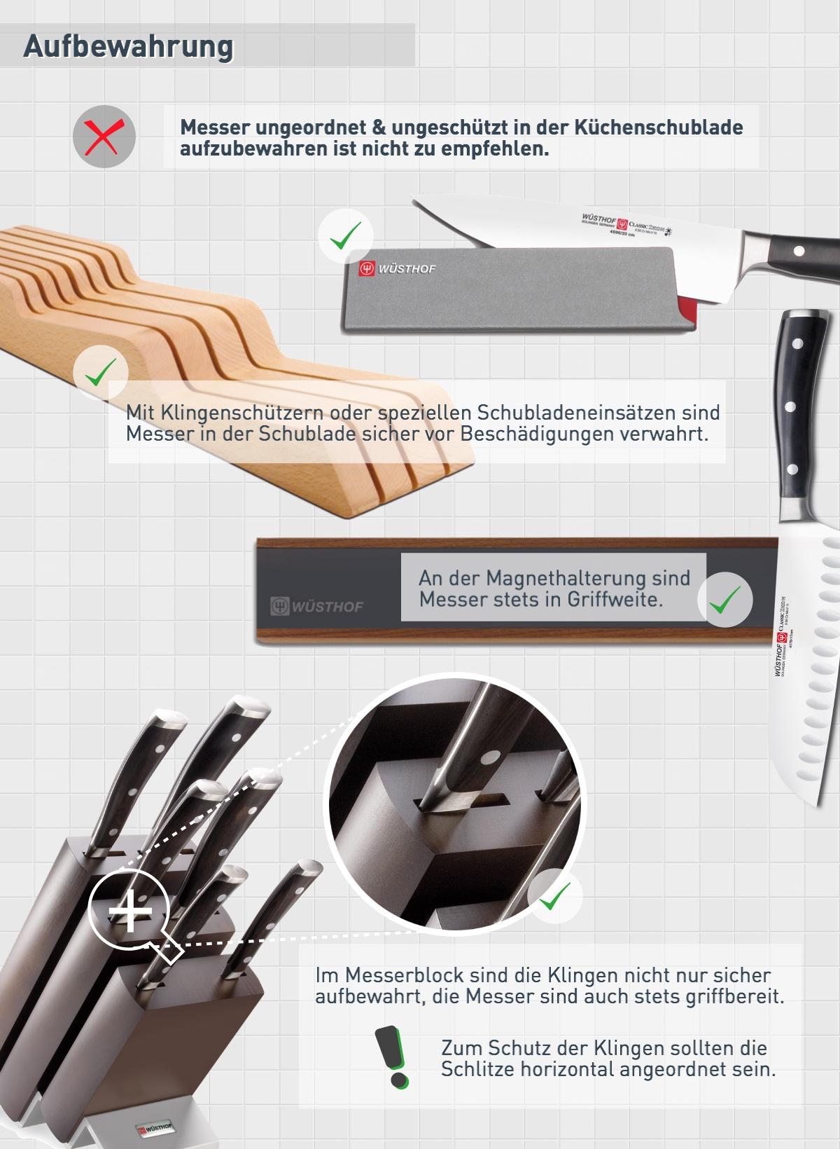 Aufbewahrung: Messerpflege
