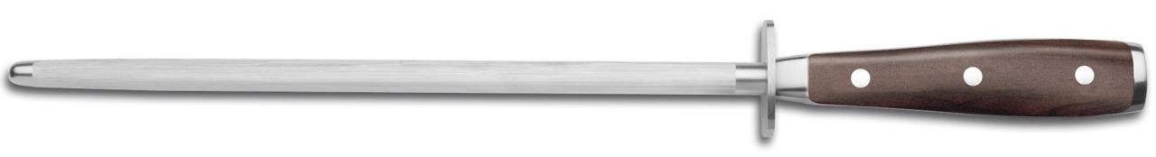 Scharfhalten der Klinge mit dem Wetzstahl – Wüsthof Ikon Wetzstahl