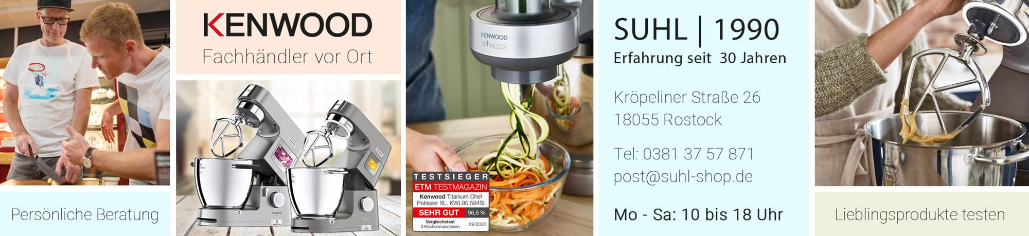 Fachhändler für Kenwood Küchenmaschinen und Zubehör