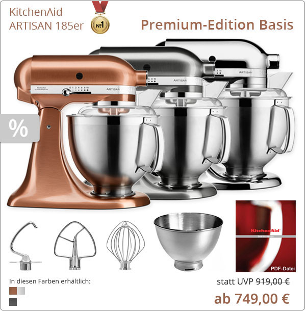 KitchenAid Premium Basis mit 5KSM185PS