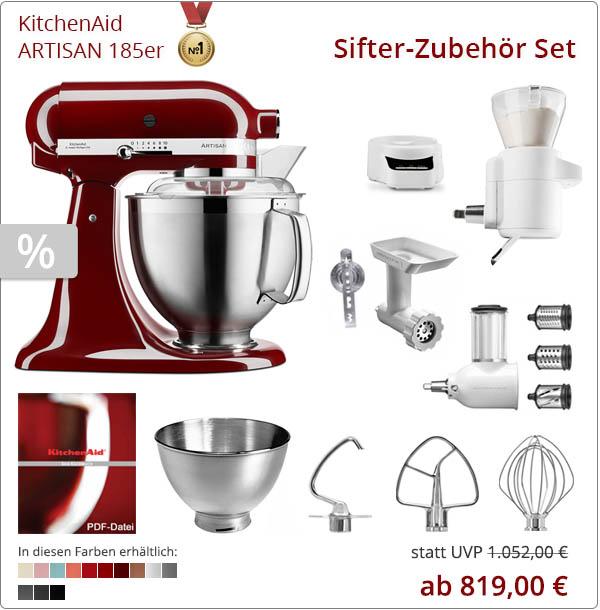 KitchenAid Sparpaket - Backen Sifter Zubehör mit 5KSM185PS