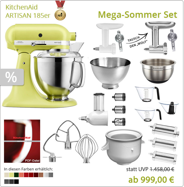 KitchenAid Artisan 5KSM185PS Mega-Sommer