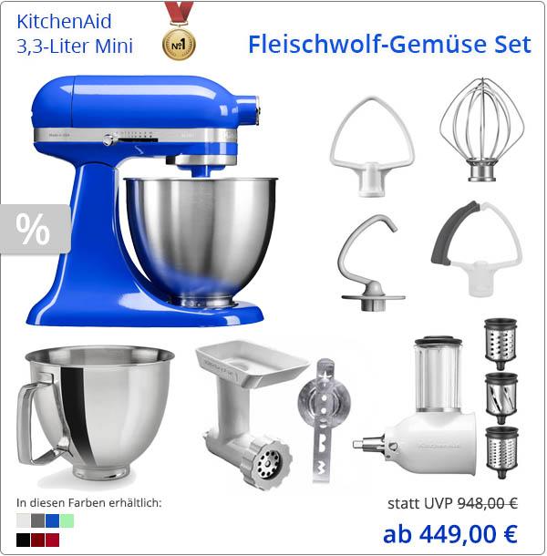 KitchenAid 5KSM3311 mit Gemüseschneider und Fleischwolf