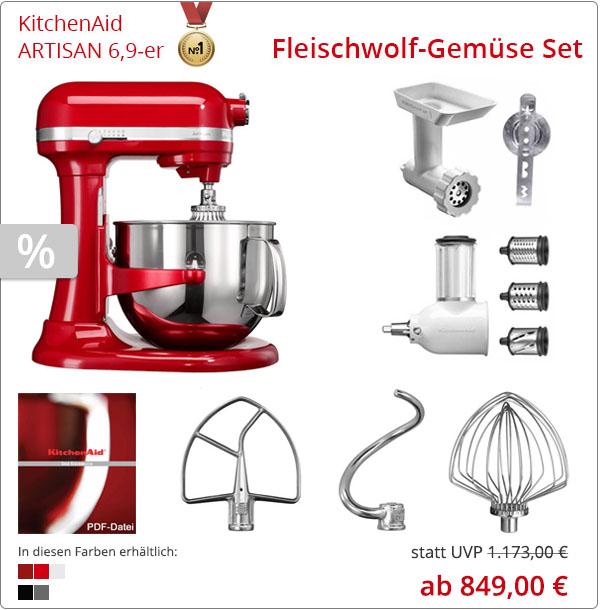 Artisan KitchenAid 5KSM7580 Fleischwolf-Gemüse Set