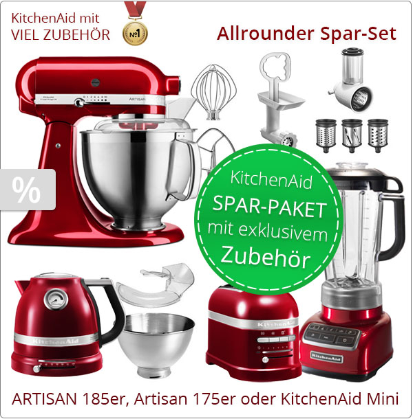 KitchenAid Artisan 5KSM185PS Allrounder-Paket
