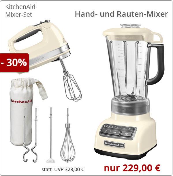 KitchenAid Mixer-Set mit Rauten- und Handmixer