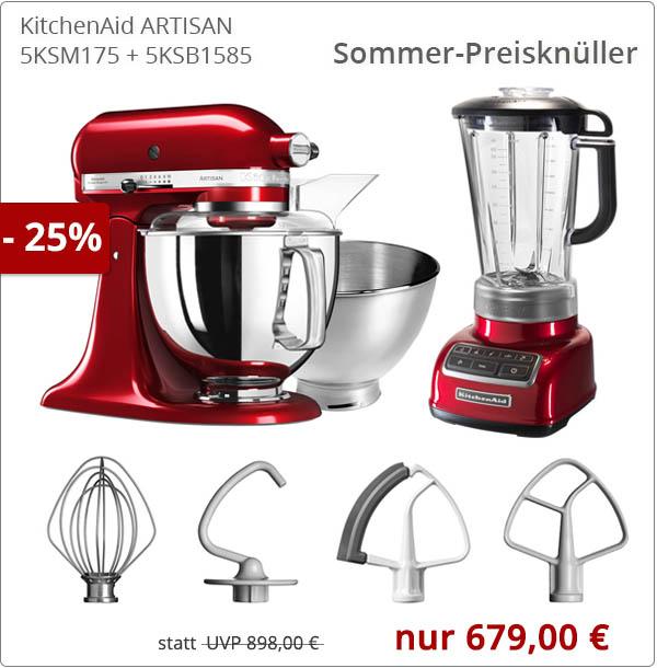 KitchenAid Artisan 175er Küchenmaschine mit Rauten-Standmixer