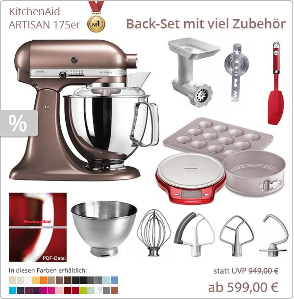 KitchenAid Artisan 5KSM175PS - Backset mit Zubehör