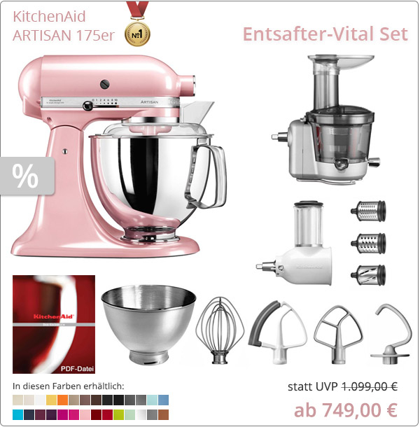KitchenAid Sparpaket - Entsafter-Vital Set Set mit 5KSM175PS