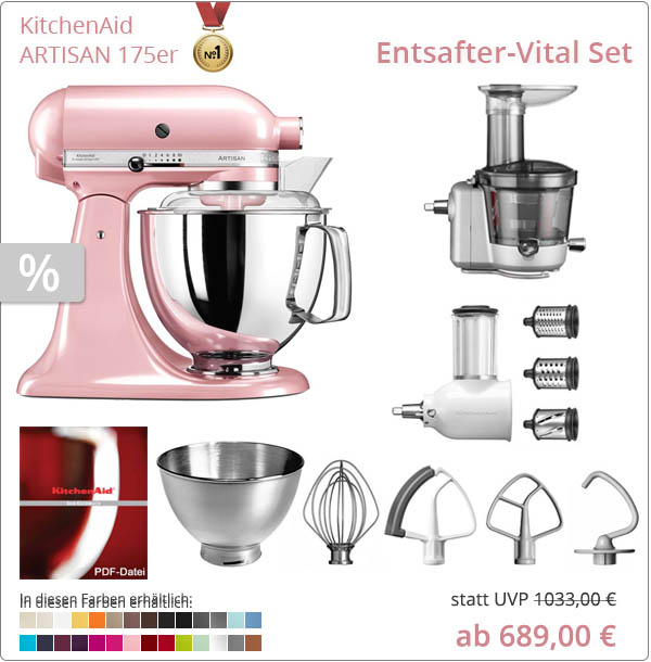 KitchenAid Sparpaket - Entsafter-Vital Set Set mit 5KSM175PS