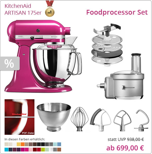 KitchenAid Artisan 5KSM175PS - Foodprocessor Set