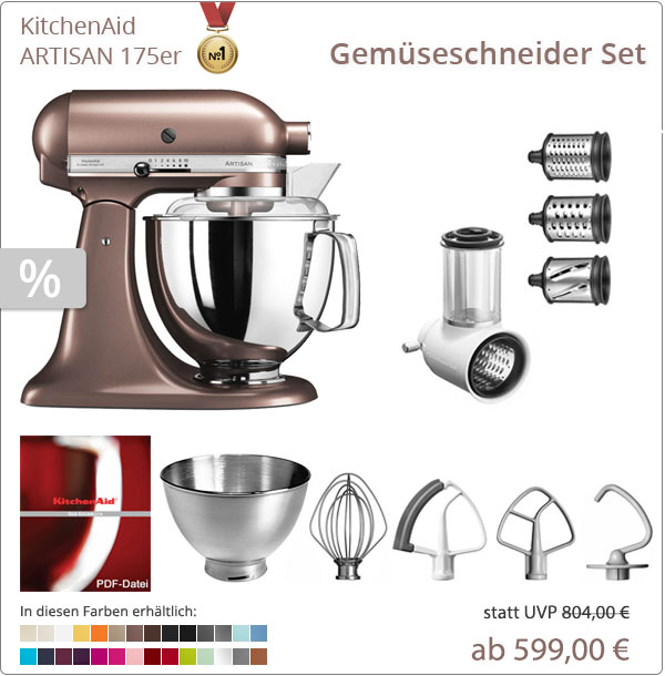 KitchenAid Artisan 5KSM175PS - Gemüseschenider-Plus Set