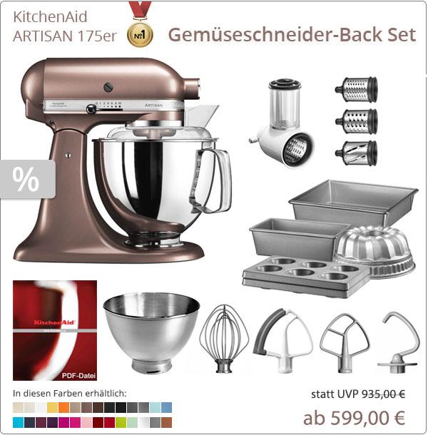 KitchenAid Artisan 5KSM175PS - Gemüseschenider-Plus Set