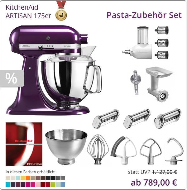 KitchenAid Sparpaket - Pasta Set für leckere Nudeln im Set mit 5KSM175PS