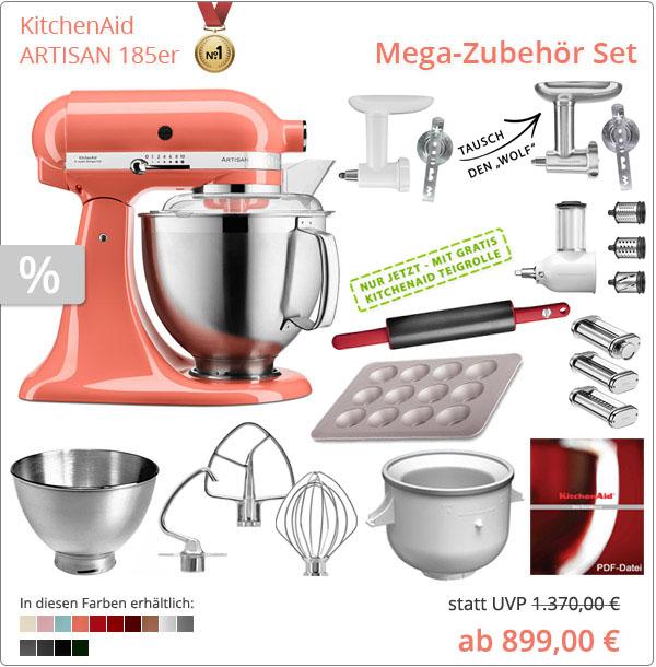 KitchenAid Artisan 5KSM185PS Mega-Paket
