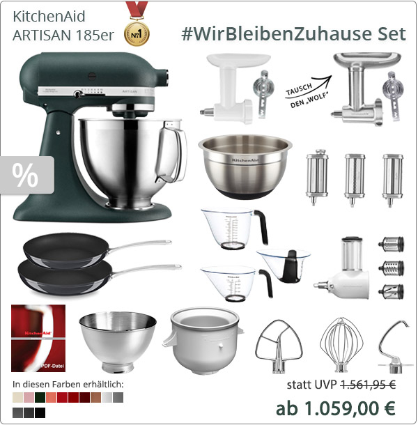 KitchenAid Artisan 5KSM185PS XXL-Paket