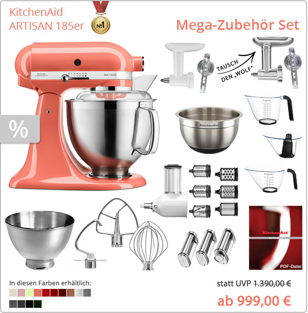 KitchenAid Artisan 5KSM185PS Mega-Paket