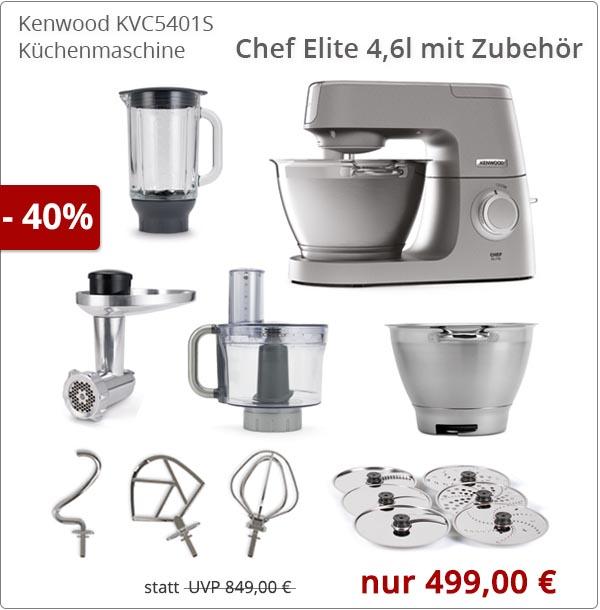 Kenwood KVC5401S Chef Elite mit Zubehör
