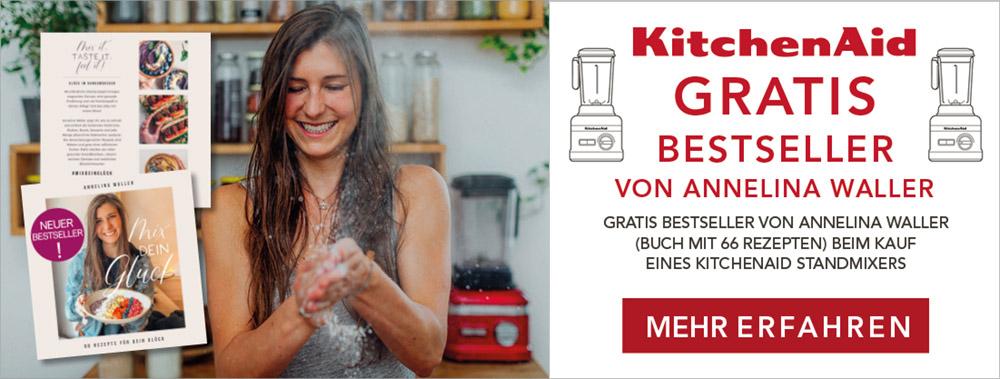 Gratis-Aktion Annelina Waller - Kochbuch beim Kauf eines KitchenAid Standmixers