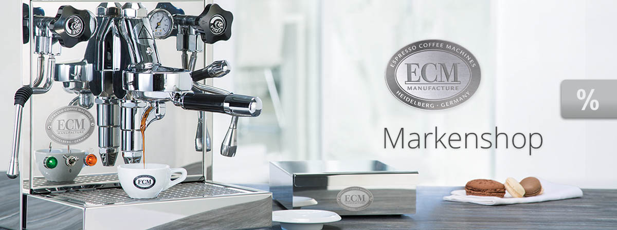 ECM Siebträger und Kaffeeezubereiter sowie ECM Pflegezubehör beim Fachhändler in Rostock und online