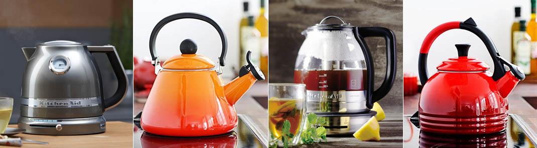 Wasserkocher, Teekessel und Sprudler von KitchenAid und Le Creuset